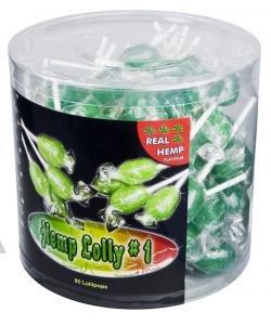 Hanf Lollies mit Cannabis Geschmack, 10 Stück