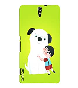 Omnam boy love with dog back cover for Xperia C5