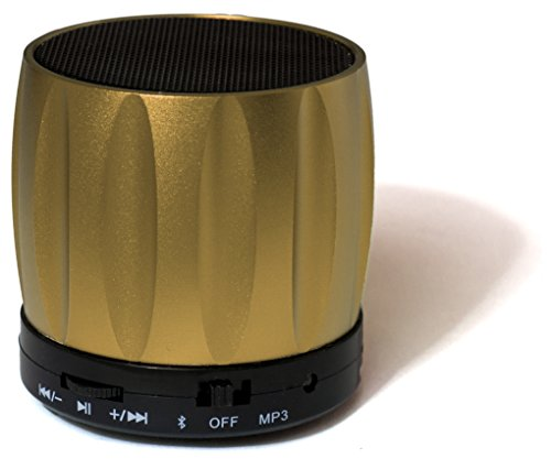 Fenix - Portable Wireless Hands-Free Mini Bluetooth Speaker - Powerful Loud and Clear Sound with Built In Microphone for Phone Calls, Built In Micro SD Card Reader - Compatible with all Apple iPhones, iPhone 5c/5s, iPad, iPad Air and iPad Mini with Retin wireless bluetooth speaker led audio portable mini subwoofer