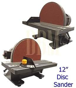 electric 12 quot  disc sander 1750 rpm tilt table 45 u00b0 bench top