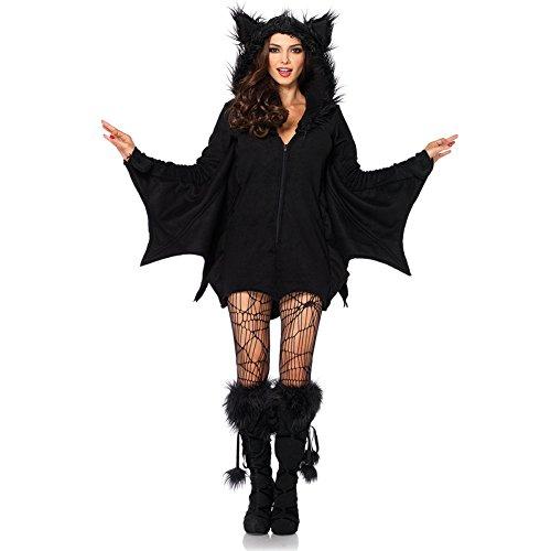 Costour Damen Kostüm für Karneval Halloween Fledermaus Hexe Cosplay Set
