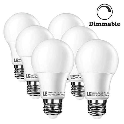 LE® 10W Dimmable A19 E26 LED Bulbs, 60W Incandescent