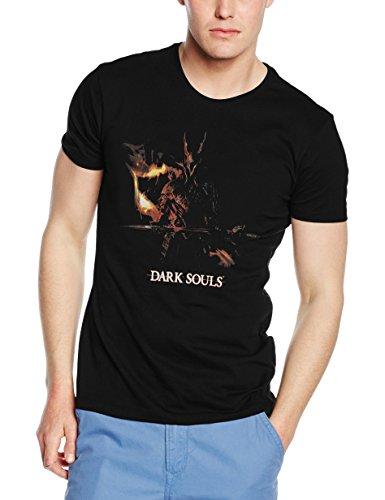Dark Souls Black Knight Screenprint, T-Shirt Uomo, Nero, Medium