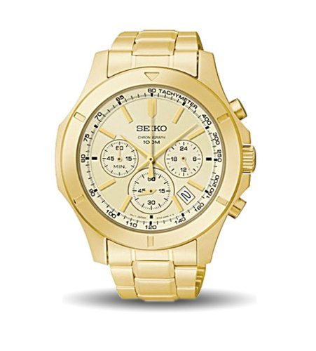 Seiko Core Collection Chronograph Stainless Steel - Gold-Tone Men's watch #SSB112P1