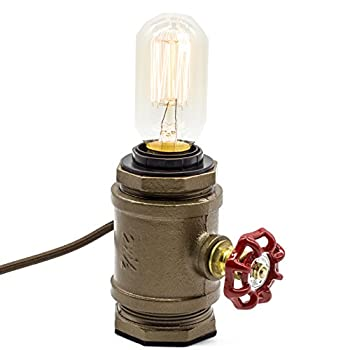 "Y-Nut Loft Style Lamp, ""Watchman"", Steam Punk Industrial, Night Lamp, Table Desk Light, LL-002"