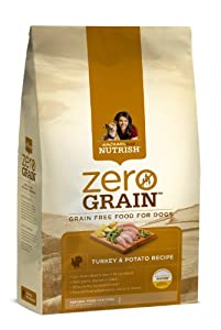 Rachael Ray Nutrish Zero Grain Dry Dog Food, Grain-Free Turkey/Potato Recipe, 14-Pound