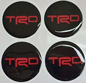 Toyota TRD 6 Cm Red Resin Sticker Decals Center Wheel Caps Cover Hub Rim from Trd