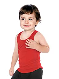 Kavio! Unisex Infants Beater Tank (Same I2Y0514) Red 24M