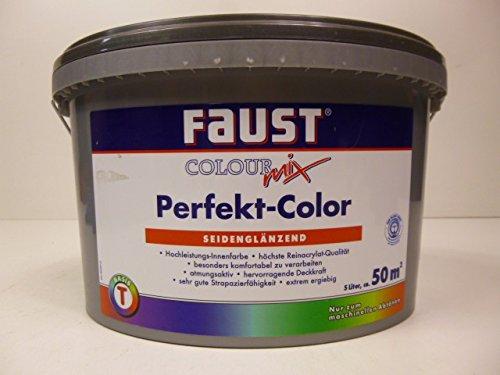 Faust innenfarbe wohnraum farbe basis t seidengl nzend 5 liter - Faust wandfarbe ...