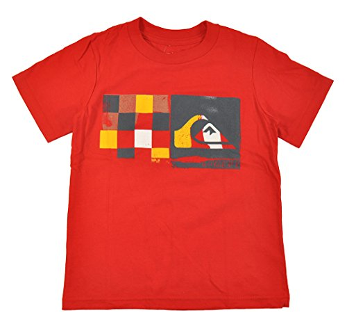 Quiksilver Little Boys S/S Red Think Big Design Top (4T)