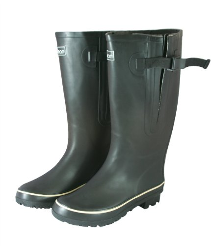 Extra Wide Calf Rain Boots in Black - Up to 20 Inch Calf (9)