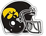 Iowa Reflective Helmet Magnet Yellow