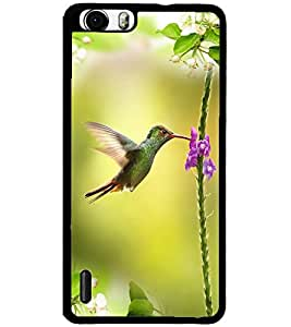ColourCraft Beautiful Bird Design Back Case Cover for HUAWEI HONOR 6