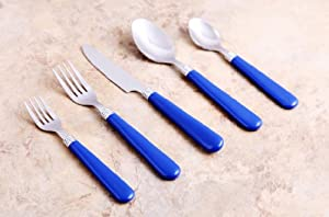 Unica Flatware Collection Izzy 48 Piece Cobalt Blue