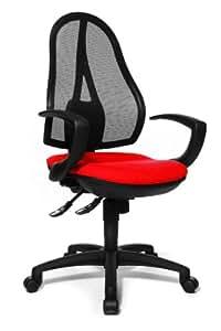 Topstar OP20QG21 Bürodrehstuhl Open Point SY inklusive Armlehnen / Bezugsstoff rot