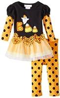 Bonnie Baby Baby Girls' Candy Corn Applique Legging Set