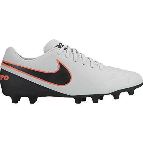 Nike Tiempo Rio Iii Fg, Scarpe sportive, Uomo, Multicolore (Pure Platinum/Black-Hypr Orng), 44.5