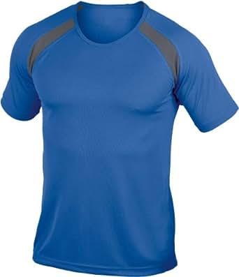 Hanes 7701 Mens Cool-Dri® Contrast T-Shirt Royal Blue M