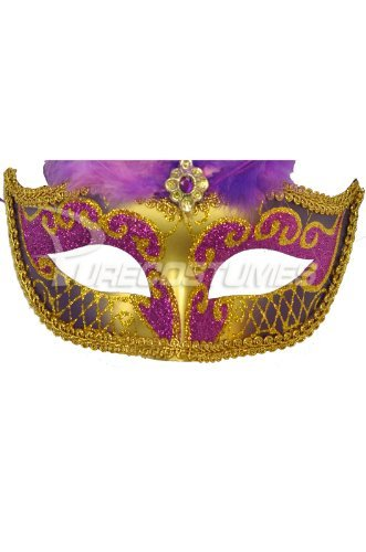 Colombina Festa Venetian Mask (Purple) colombina fiora с черными перьями