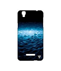 Vogueshell Blue Triangle Pattern Printed Symmetry PRO Series Hard Back Case for YU Yureka Plus