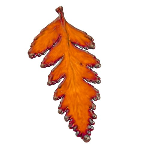 Iridescent Copper Dipped Fern Leaf Pin