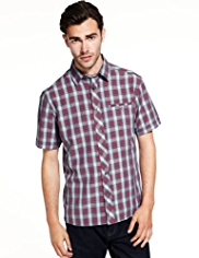 Modal Blend Layer Checked Shirt
