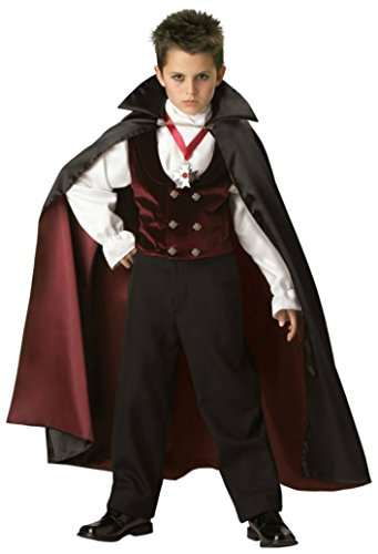 Boys Gothic Vampire Kids Child Fancy Dress Party Halloween Costume