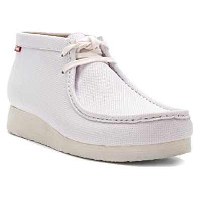 Clarks Men's Stinson Hi White Leather 7 M US