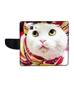 KolorEdge Printed Flip Cover For Samsung Galaxy J2 Multicolor - (1477-47KeMLogo10470SamJ2)