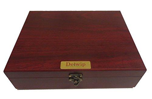 Delwip DW-WS17D Deluxe Wine Gift Set In Wooden Box Professional Wine Opener Corkscrew