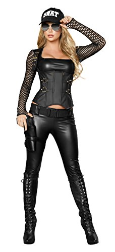 Roma Costume Women's Deluxe Sexy SWAT Agent, Medium