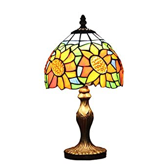 Gweat 8 Inch Pastoral Sunflower Stained Tiffany Glass