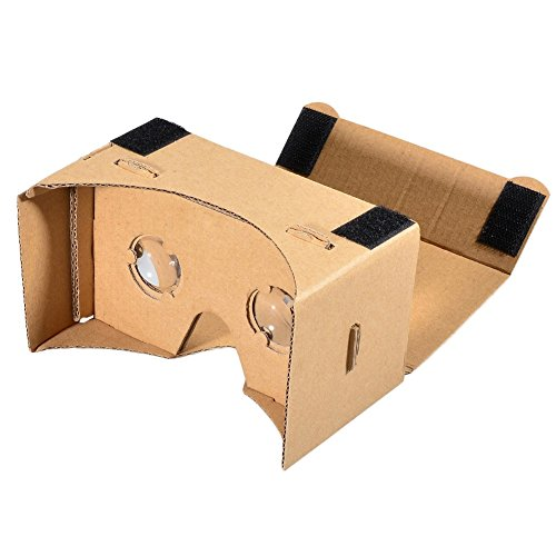 """Beauty7 VR Headset Virtual Reality Cardboard Kit V2.0 DIY 3D Glasses with Magnets For iPhone Android Smartphone 4-6"""" Inch Screen"""