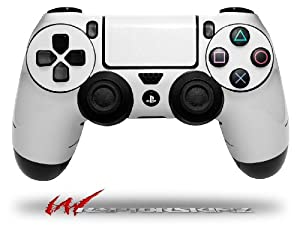 Solids Collection White - Decal Style Wrap Skin fits Sony PS4 Dualshock Controller - CONTROLLER NOT INCLUDED