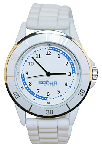 Scrub Stuff Watches special savings deal: Nurse-Medical White Silicone Quadrant Watch
