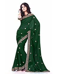 Sourbh Saree Dazzling Embroidered Faux Georgette Best Sarees For Women (with Color Options) Party Wear,Women Clothing...