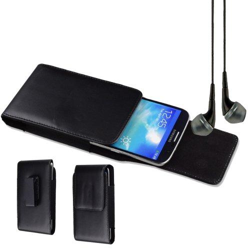 Premium Faux Leather Vertical Swivel Belt Clip Holster For Samsung Galaxy Mega 6.3 Mega 5.8 Nokia 1520 Lumia 1320 - Black + Black Vangoddy Headphone