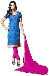 Shyam Suits Women's Cotton Unstitched Salwar Suit (LUCKY054)