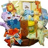Jungle Buddies Baby Gift Basket, Neutral Boy or Girl