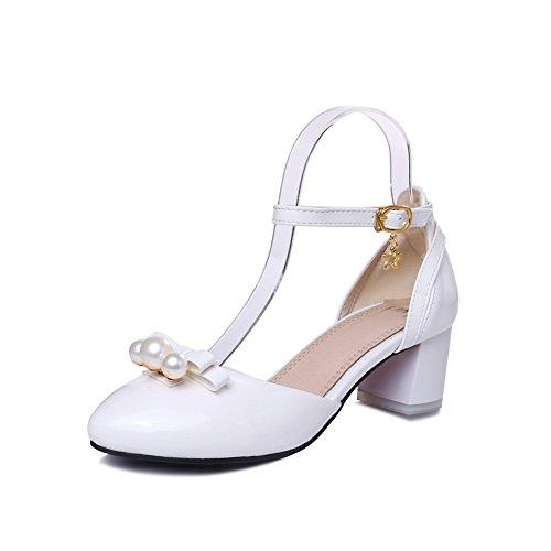 adee-ladies-bows-round-toe-white-polyurethane-sandals-5-uk