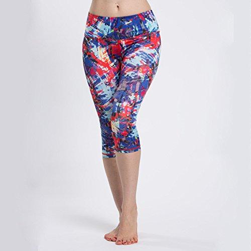 Donna Sport, corsa, Super Elastico Aderente Corto Yoga Pantaloni, 4, S
