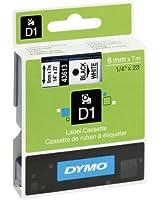 Dymo D1 Étiquettes Standard 6 mm x 7 m - Noir sur Blanc