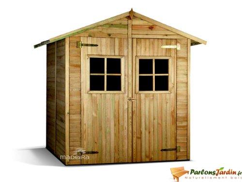 Abri jardin bois - 4 m² - 2.05 x 1.96 x 2.27 m - 19 mm
