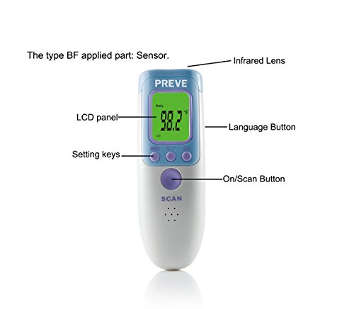 Forehead thermometer accuracy adults