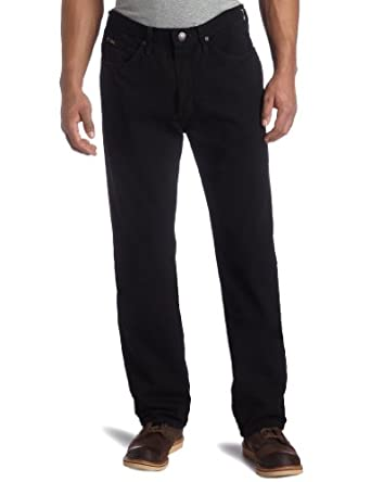 Lee Men's Relaxed Fit Tapered Leg Jean, Double Black, 28W x 30L