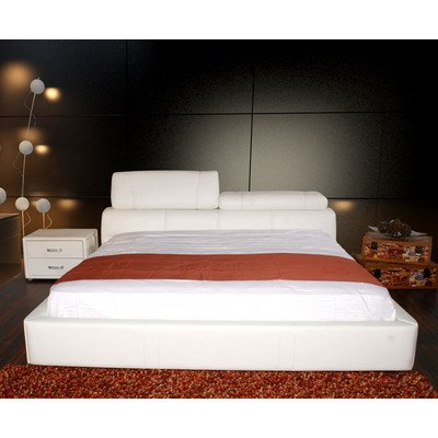 VIDEO Review) Cannes Platform Bed Finish: White Leather, Size ...