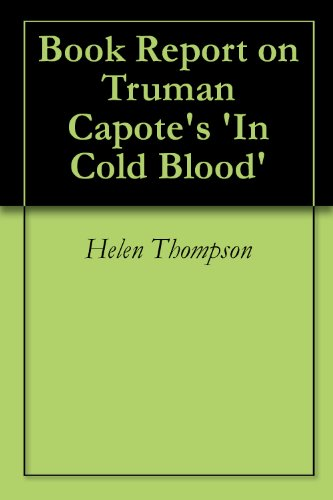 an analysis of in cold blood by truman capote essay In cold blood - an analysis capote's in cold blood is an astonishing journalistic insight into instances surrounding the murder of a farm truman capote.