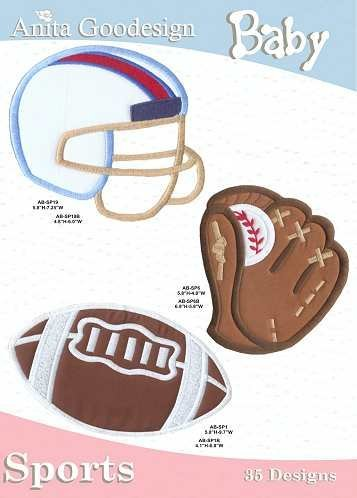 Anita Goodesign Embroidery Designs Pack Cd Baby Sports back-1043214