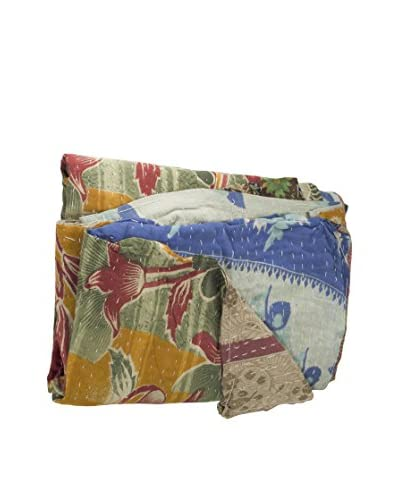 bambeco Kantha Quilt from Vintage Saris, Multi
