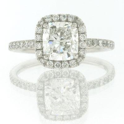 2.35ct Cushion Cut Diamond Engagement Anniversary